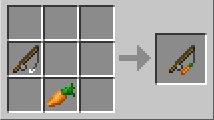 как сделать удочку с морковкой
